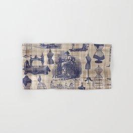 Vintage Sewing Toile Hand & Bath Towel