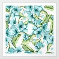 blossom Art Prints featuring Blossom by Julia Badeeva