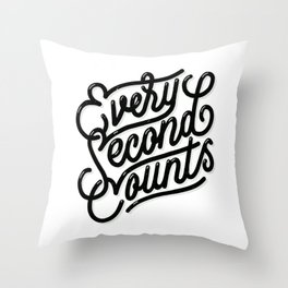 Every Second Counts Throw Pillow