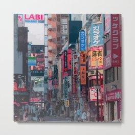 Shinjuku Alleyways Metal Print