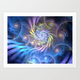 fractal: spiralling soul Art Print