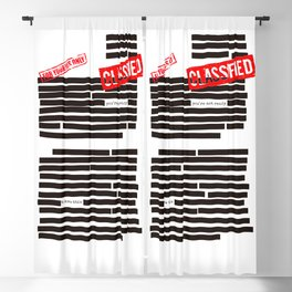 Censored text (Classified information) Blackout Curtain