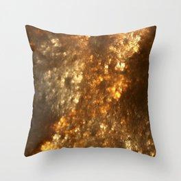 Fractal Art - Gold mine Throw Pillow