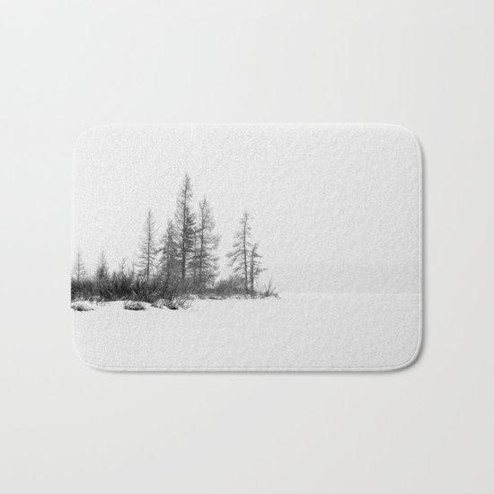 trees on white Bath Mat