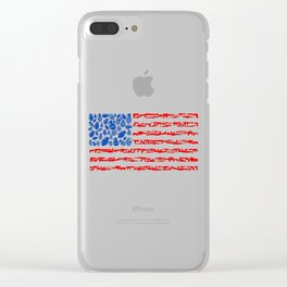 American Flag Weapons Art Clear iPhone Case