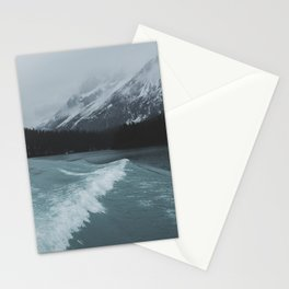 Maligne Lake Boating | Landscape Photography By Magda Opoka | Minimalism Stationery Cards