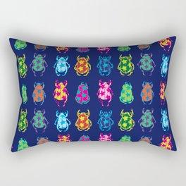 Star Beetles Dark Blue Rectangular Pillow