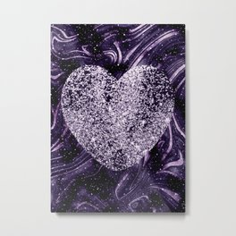 Cosmic Glitter Heart Dream #1 (Faux Glitter) #love #decor #art #society6 Metal Print