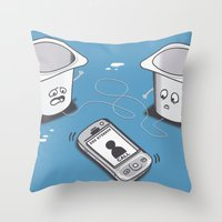 evolution Throw Pillows featuring Evolution by 2mzdesign