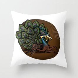 Mutant Zoo - Peacockroach Throw Pillow