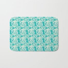 Sewing Toile in Teal Bath Mat