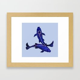 Astrological sign pisces constellation Framed Art Print