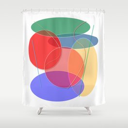 Abstract #27 Shower Curtain