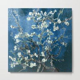 Van Gogh Almond Blossoms : Ocean Blue Metal Print
