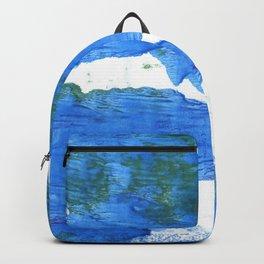 Bleu de France abstract watercolor Backpack