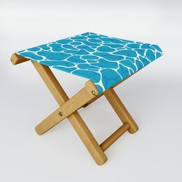 The Great Sea: Graphic Ocean Water Pattern Folding Stool