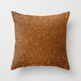 Soft Rose Gold Glitter Throw Pillow