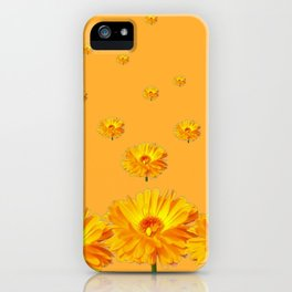 FLOATING GOLDEN FLOWERS  GREY COLLAGE iPhone Case