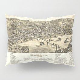 Bird's Eye View of Bellaire, Ohio (1882) Pillow Sham
