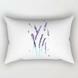 Lavender & Bees Rectangular Pillow