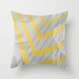 Lady in lines Throw Pillow