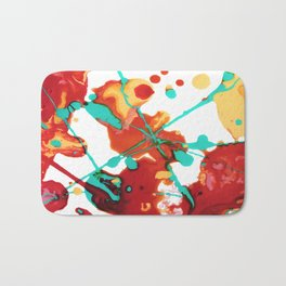 Paint Party 1 Abstract Bath Mat