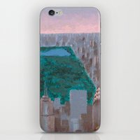 central park iPhone & iPod Skins featuring central park by cityclectic design