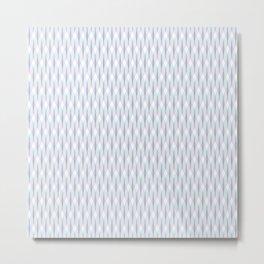 Purple and Aqua Tangled Lines Pattern Metal Print