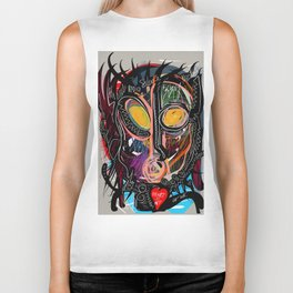 Heart is Art inspired by the music of Thomas Dolby Biker Tank