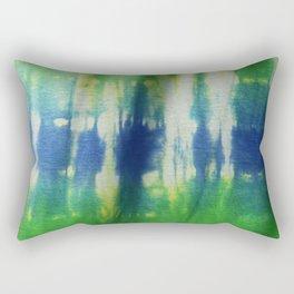 Tie Dye Blue Green 2 Rectangular Pillow