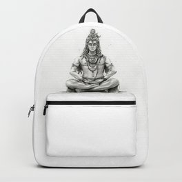 Lord Shiva Painting, Shiva Art, Meditation Shiva Portrait Backpack