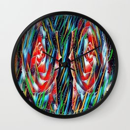 abstract roses Wall Clock