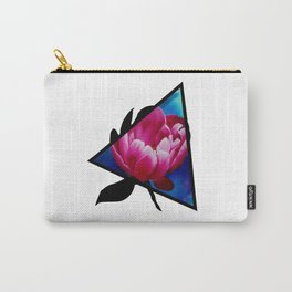 Punk Peony Triangle Carry-All Pouch