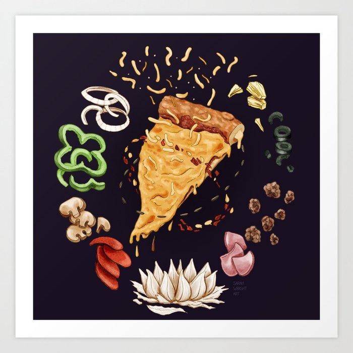 Pizza Mandala Art Print