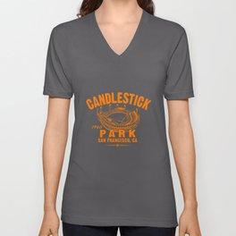 Candlestick Park Baseball Tee MLB San Giants Vintage softball game Unisex V-Neck