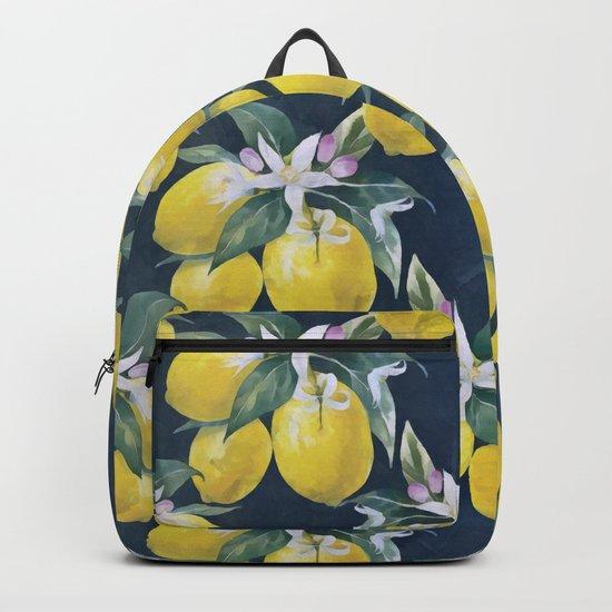 Lemons pattern Backpack