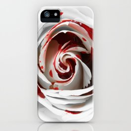 Bleeding Rose Macro iPhone Case