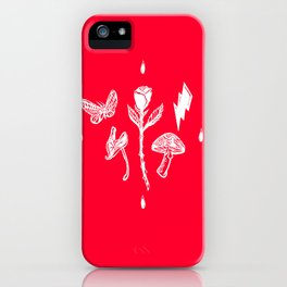 Icon Flora White on Red iPhone Case