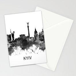 Kyiv Ukraine Skyline BW Stationery Cards