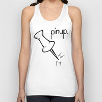 pinup Tank Tops featuring Pinup. by Ebenezer Hedgehog