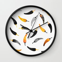 Chili Pattern 1 Wall Clock