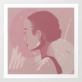 Girl From Behind Art Print