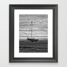 Wait to sail Framed Art Print