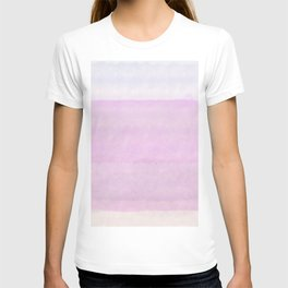 Pastel pink lilac ivory ombre watercolor T-shirt
