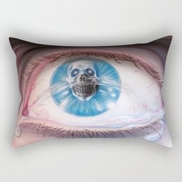Death in the eyes Rectangular Pillow