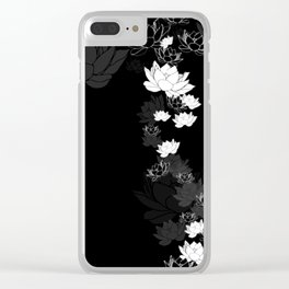 Lovely Lotus Clear iPhone Case