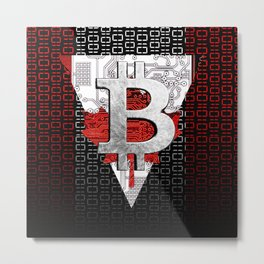 bitcoin Canada Metal Print