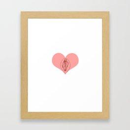 I Heart Vagine Framed Art Print