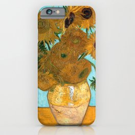 Vincent van Gogh - Still Life Vase with Twelve Sunflowers iPhone Case