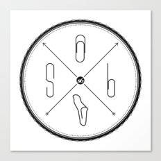 S6 : hipster clip Society6 Canvas Print